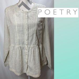 Poetry Organic Cotton Long Sleeve Top NWOT
